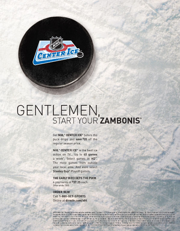 NHL Center Ice Ad