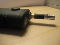 KVS bridgeless e-cigarette atomizer on a Boge Revolution V2.1