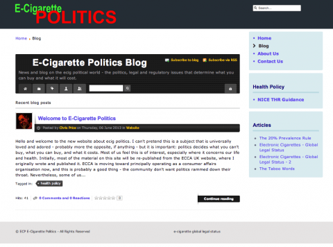 e-cigarette politics screenshot