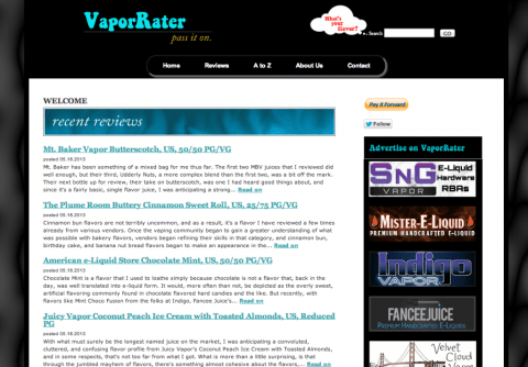 vaporrater screen shot