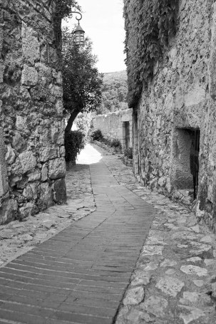 Stone road in Eze.