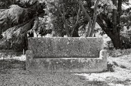 Stone bench, Lourmarin, France.