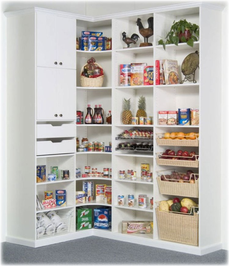 20 Variants Of White Kitchen Pantry Cabinets Interior Design Inspirations