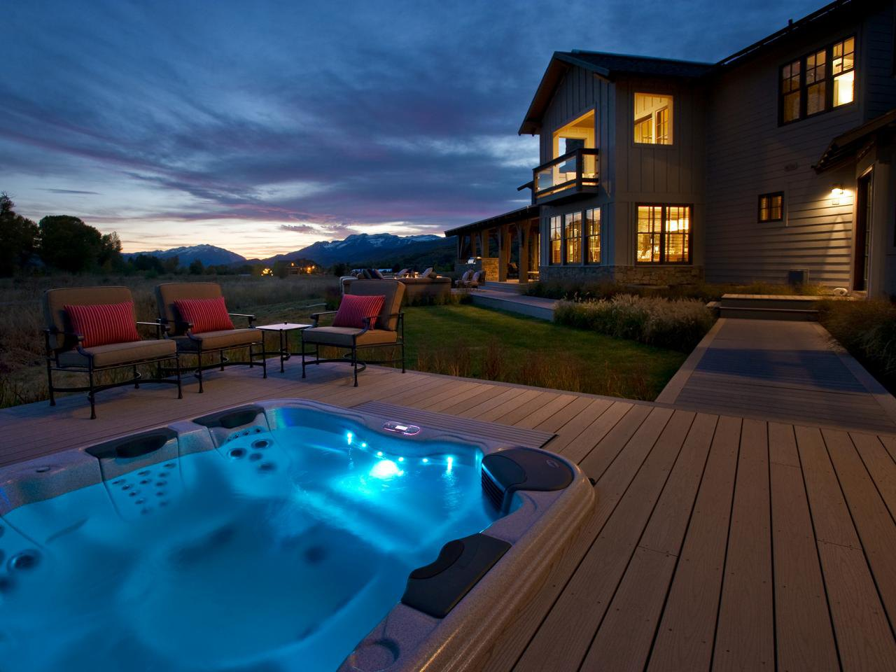 50 Gorgeous Decks and Patios With Hot Tubs - Interior ... on Deck And Hot Tub Ideas  id=49120