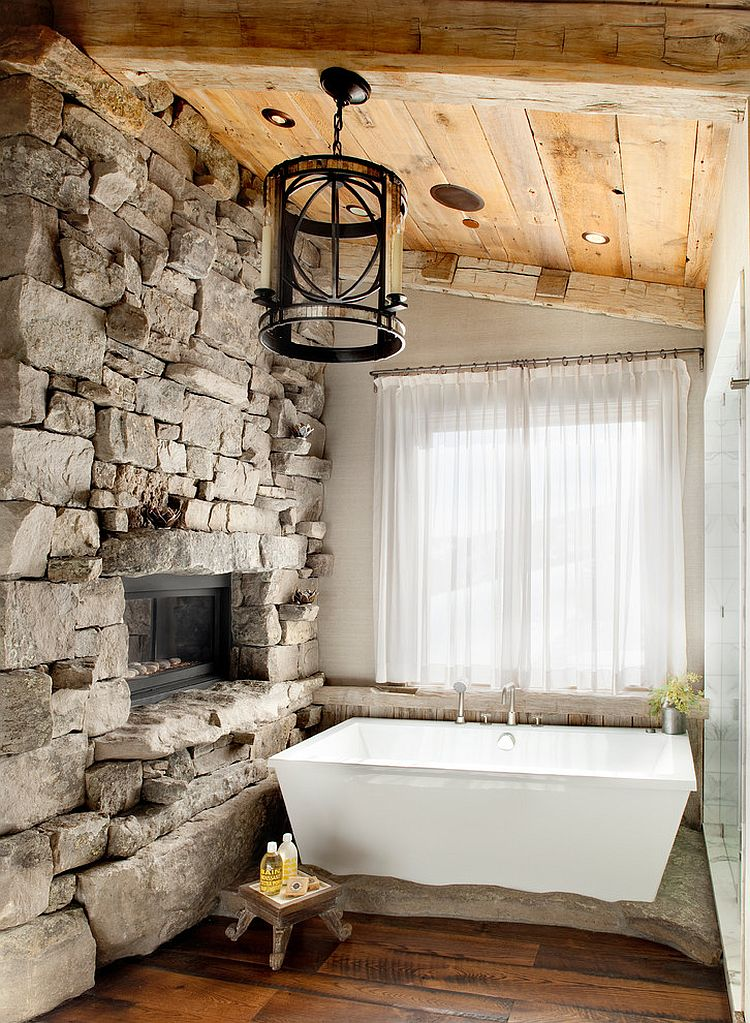 9 charming and natural rustic bathroom design ideas on rustic bathroom designs photos id=47281