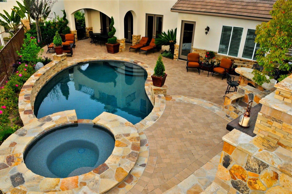 Best Inspirations For Backyard Designs with Pool ... on Backyard Yard Design  id=47453