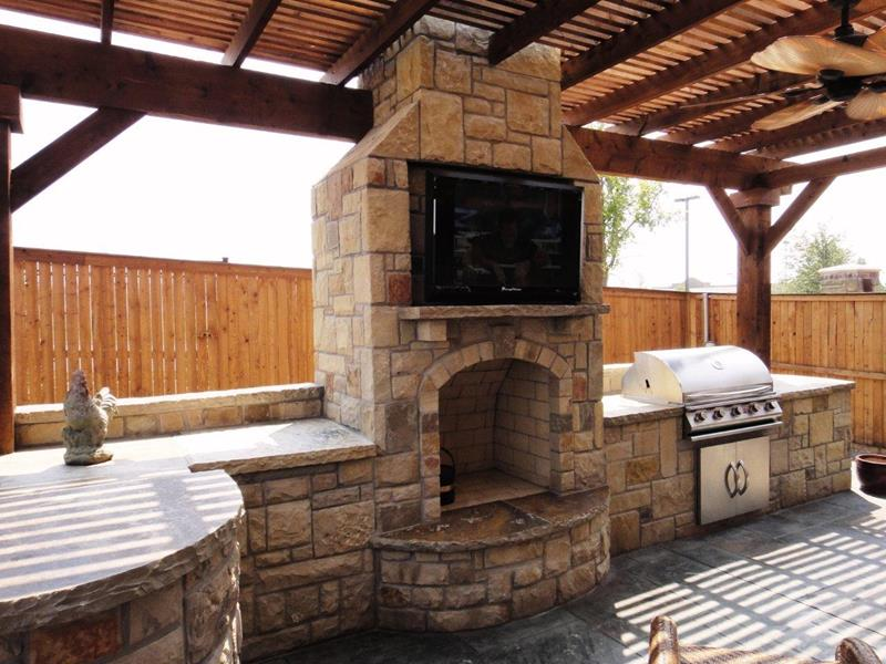 47 Amazing Outdoor Kitchen Designs and Ideas - Interior ... on Outdoor Kitchen And Fireplace Ideas id=15255