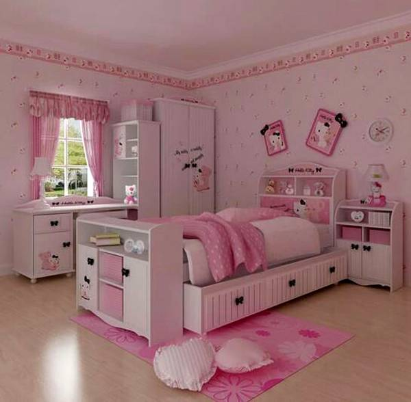 Dora The Explorer - Themed Bedroom For Kid - Interior ... on Bed Ideas For Small Rooms  id=93707