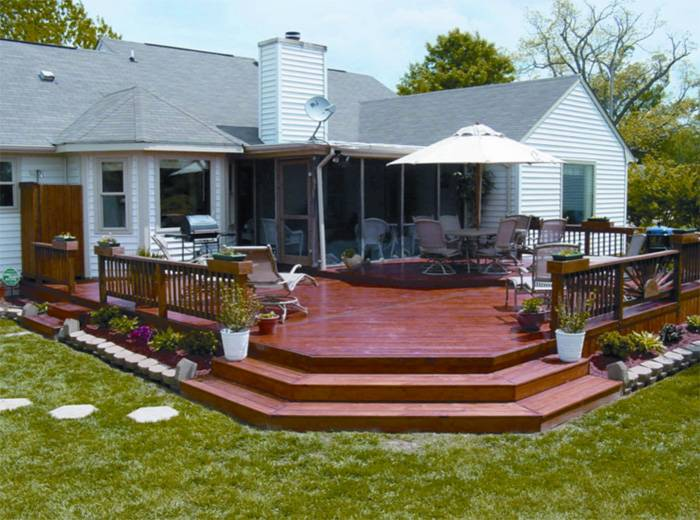 23 Inspirational wood deck designs - Interior Design ... on Patio With Deck Ideas id=13999