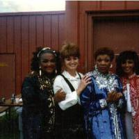 Lisa York with The Shirelles. 1996