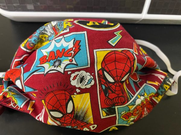 Out of the Box Spider-Man Face Mask - a Face mask with Spider-Man on it. #Spiderman
