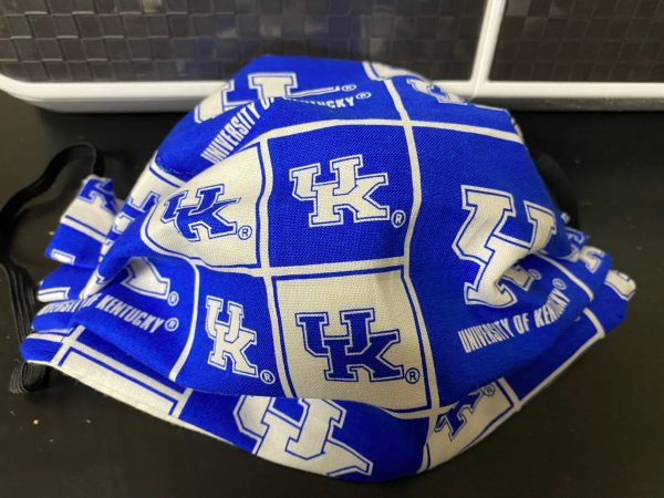 University of Kentucky Face Mask - A Blue and White Face Mask with UK on it. #UK #Kentucky #Wildcats