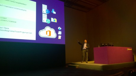 On stage at TechEd Europe on Friday morning