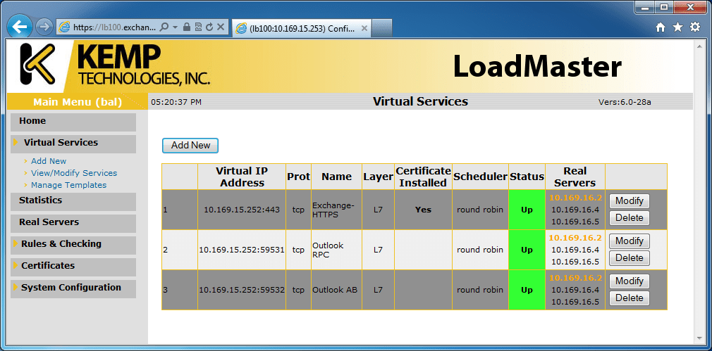 Using the KEMP LoadMaster with Exchange Server 2010 | All