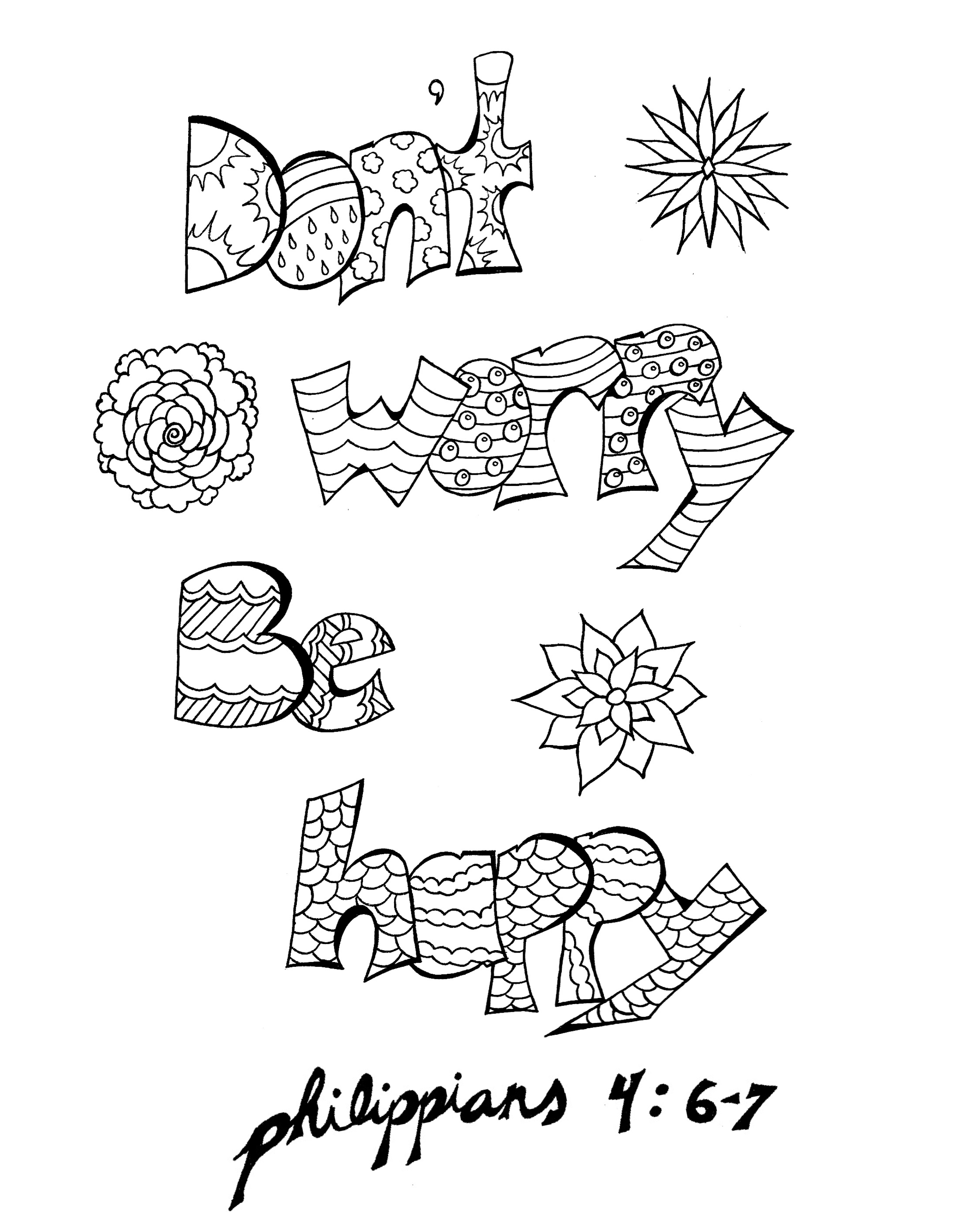 Dont Worry Matthew Coloring Page Coloring Pages