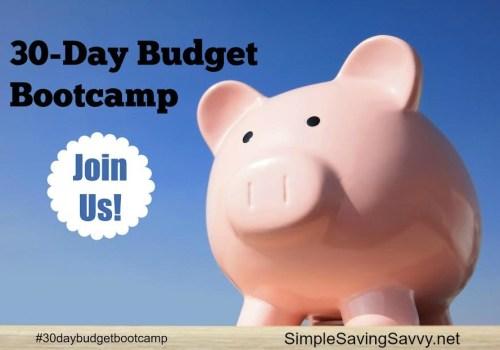 30-Day Budget Bootcamp Challenge