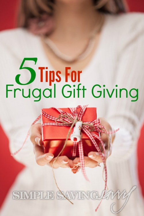 5 Tips for Frugal Gift Giving
