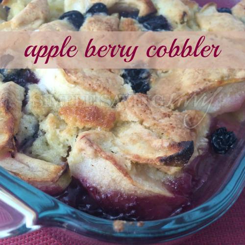 Amanda's Apple Berry Cobbler