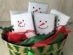 Snowmen Candy Bar Basket