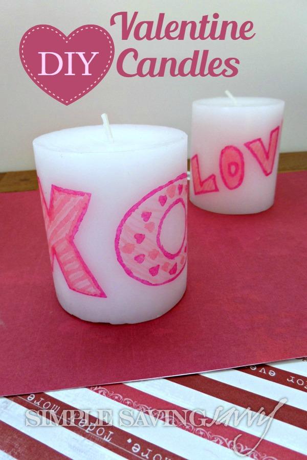 DIY Valentine Candles