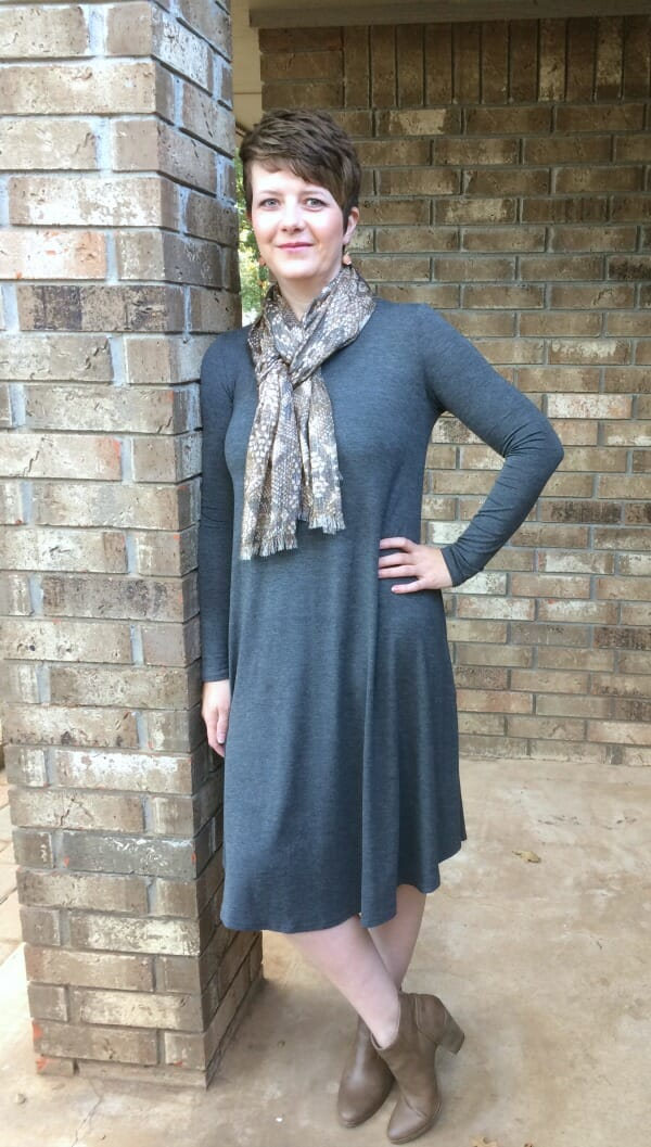 remi swing dress with scarf