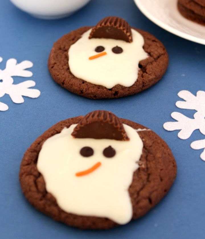 melted snowman cookie