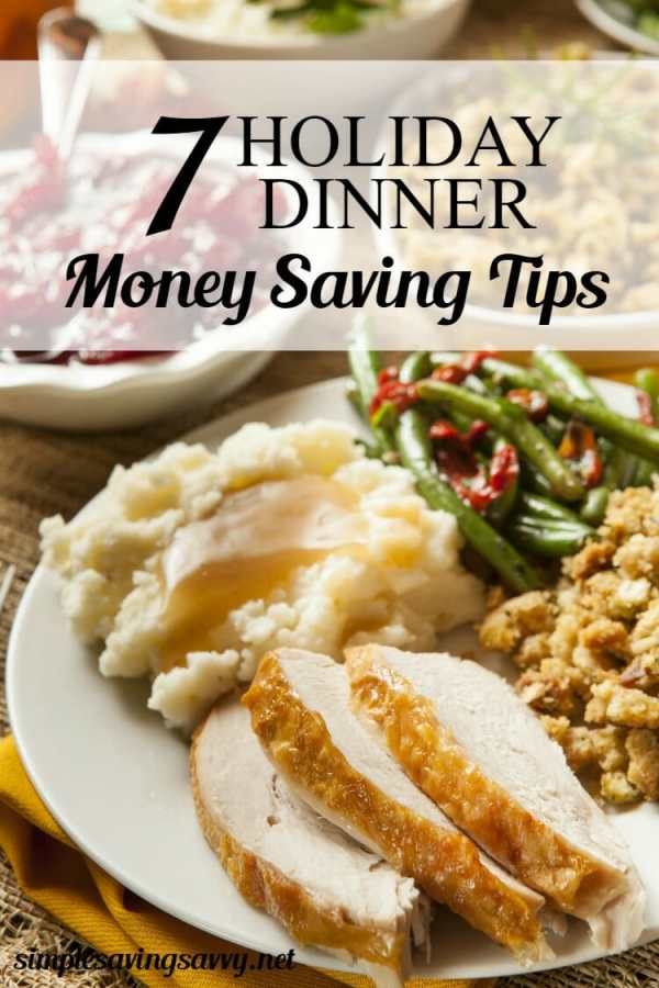 Holiday Dinner Money Saving Tips
