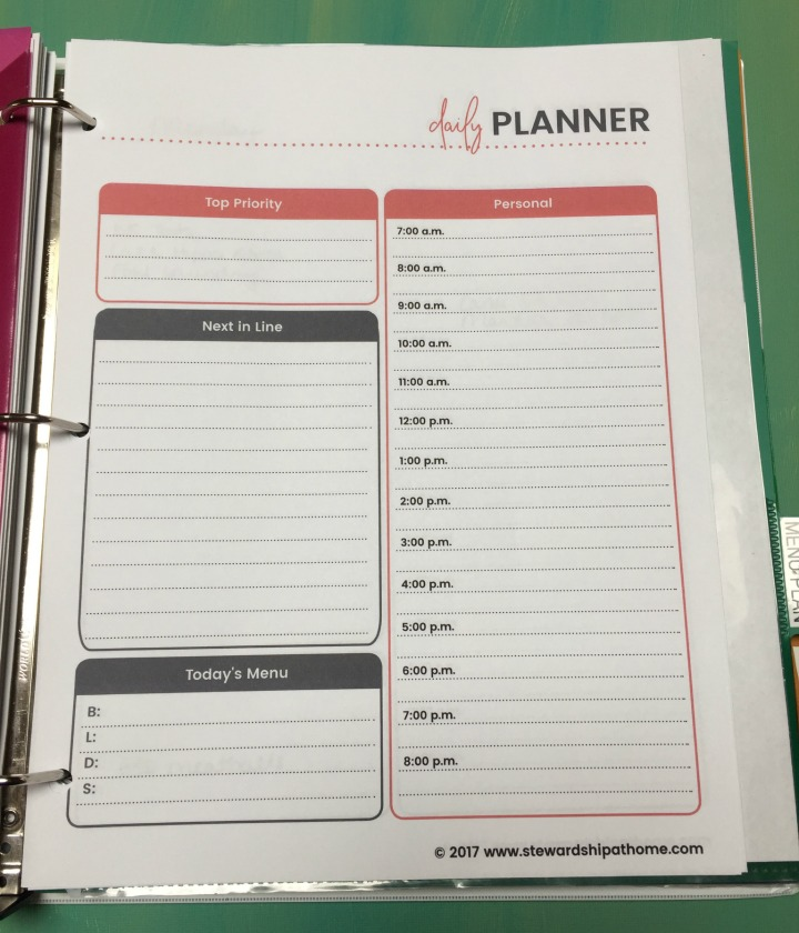 simple household planner daily appointment planning printable