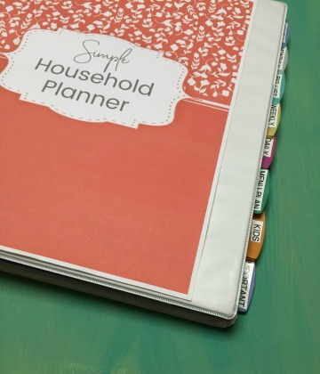 DIY Simple Household Planner | FREE Printable Planning Sheets