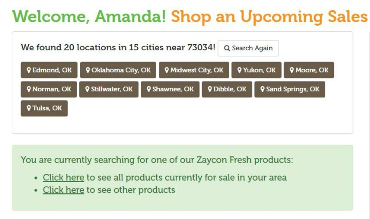 Shop Zaycon Fresh Locations