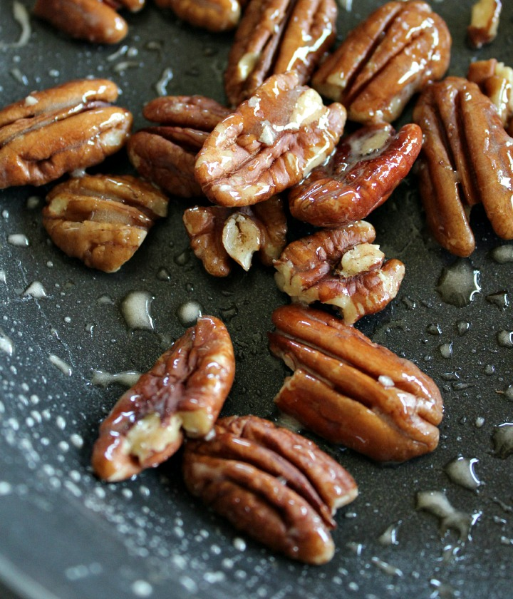 Caramelized Pecans for Triple Layer Pumpkin Spice Pie Topping