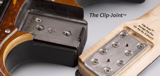 """Stewart Guitars patented """"Clip Joint"""""""