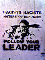 racists and fascists follow your leader and commit suicide like the little corporal did in the Berlin Bunker