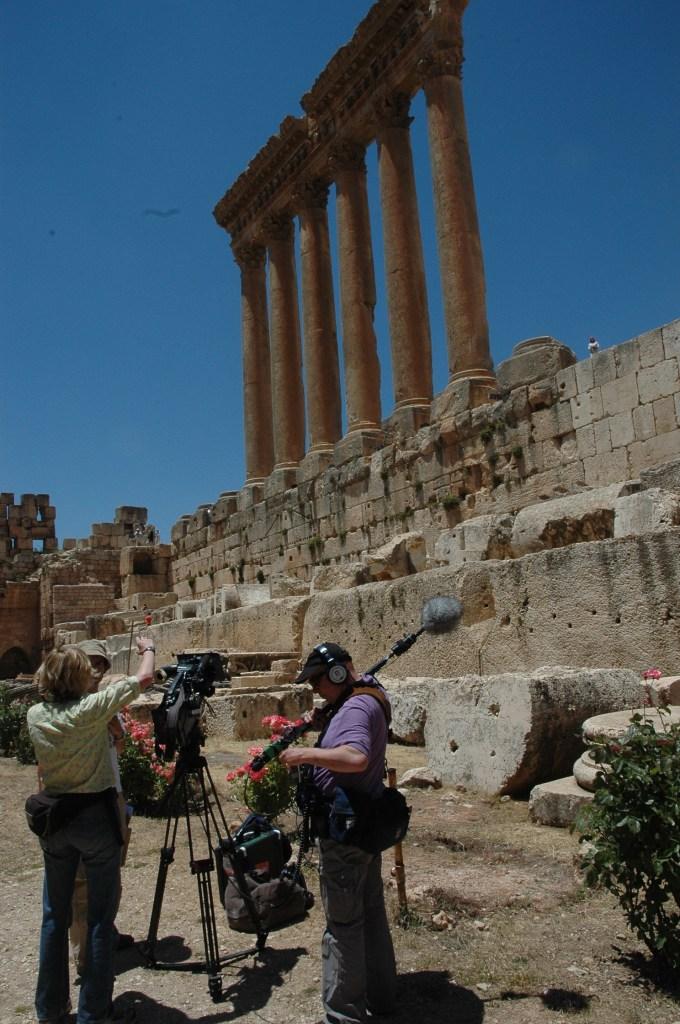 Stewart Innes Baalbek Lebanon filming