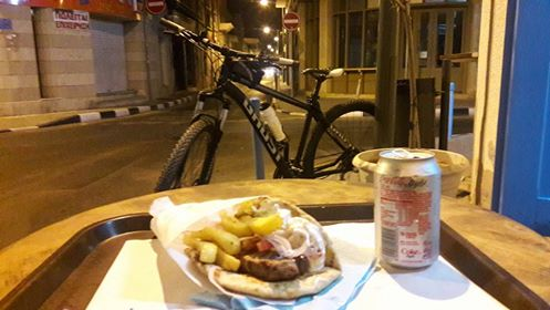 Ghost Bike and Souflaki in Limassol Cyprus