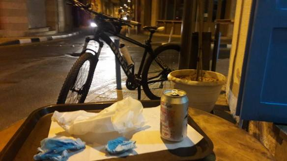 Ghost Bike liberated in Limassol Cyprus with a typical demolished Souflaki.jpg