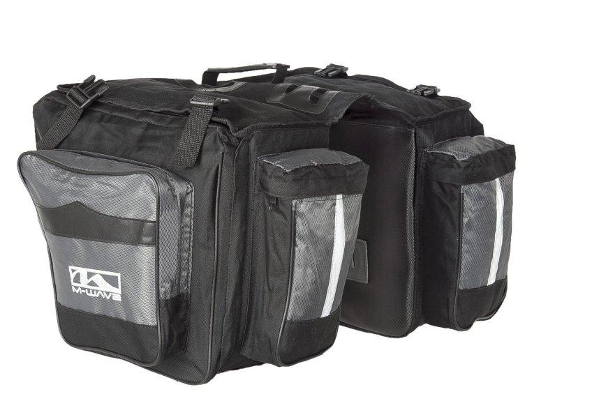Stewart Innes M-Wave Amsterdam Triple Deluxe Pannier - Back pack Black