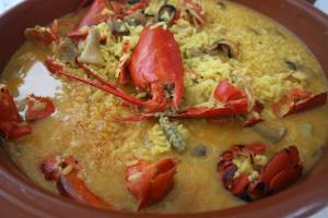 Food, Spain paella lobster Valencia gastronomy