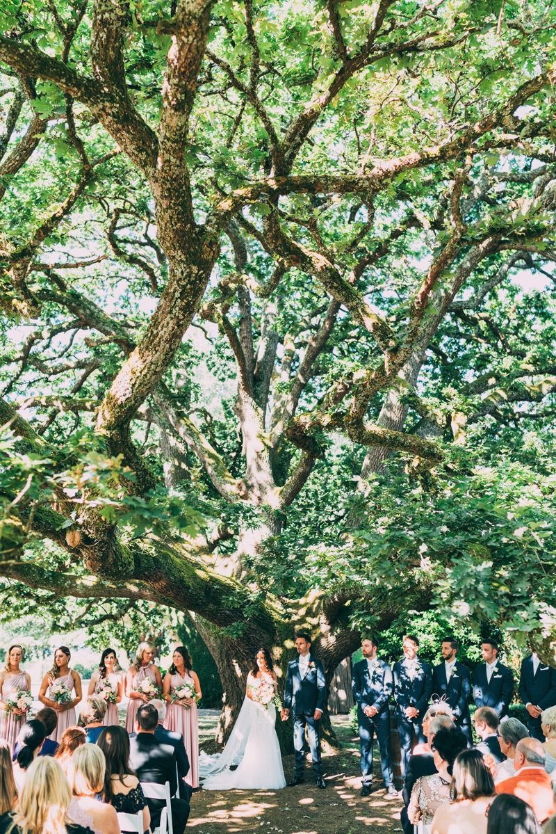 oak tree wedding in the yarra valley coombe