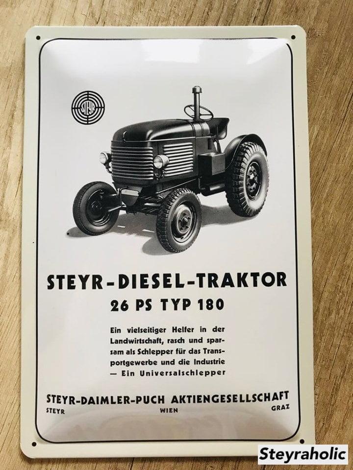 Blechschild_Steyr26er
