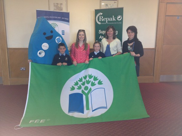 Green Schools Committee collect the flag! - St. Fergus ...