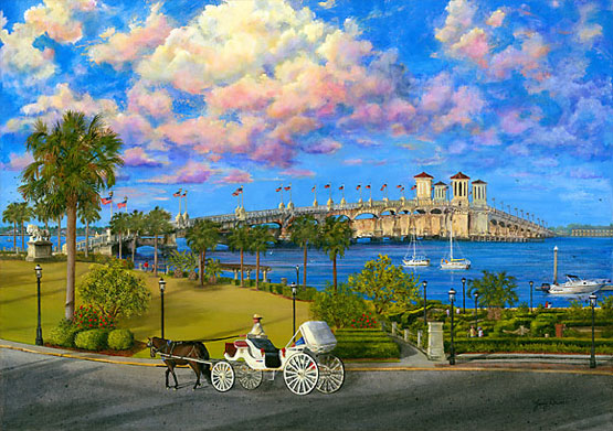 painting by Judy Lavoie titled Bayfront St. Augustine