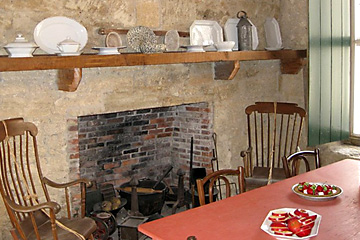 Pena-Peck House Museum kitchen exhibit
