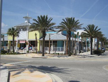Vilano Town Center village shops