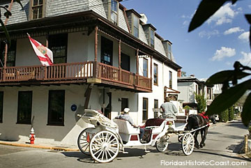 Horse Drawn carriage passing St. Francis Inn