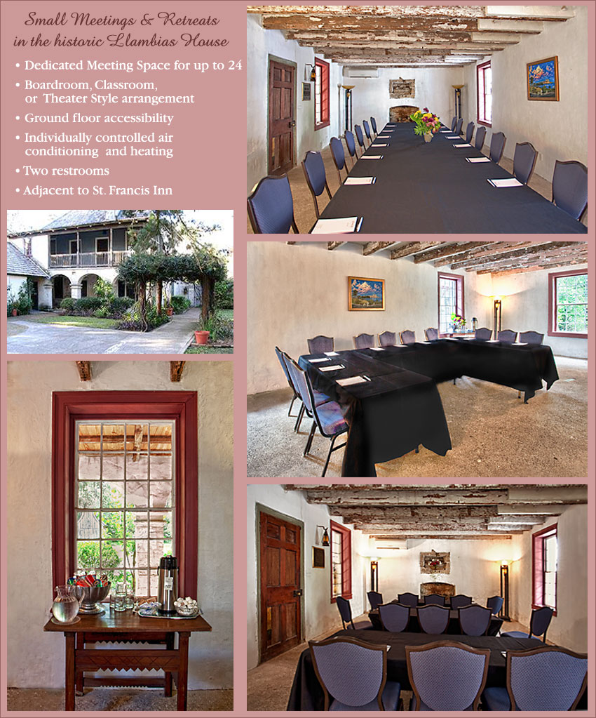 Meeting space is conveniently located adjacent to the main Inn, in the historic Llambias House