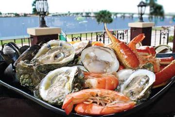 Meehans Dinner, overlooking the bayfront