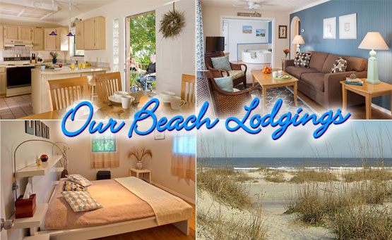 our beach lodgings collage