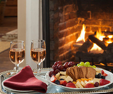 Wine, Cheese & Fruit Platter
