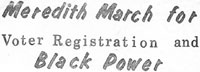 Meredith March for Voter Registration and Black Power